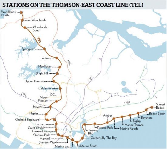 Thomson-East-Coast-Line-Map